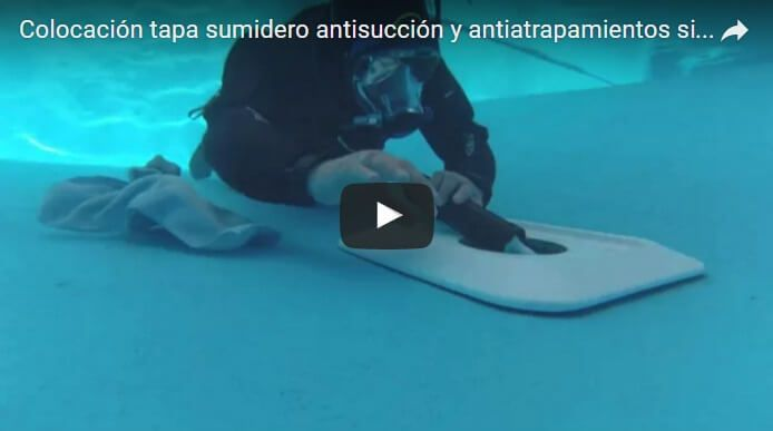 Colocar Tapa Sumidero Antisuccion Piscina
